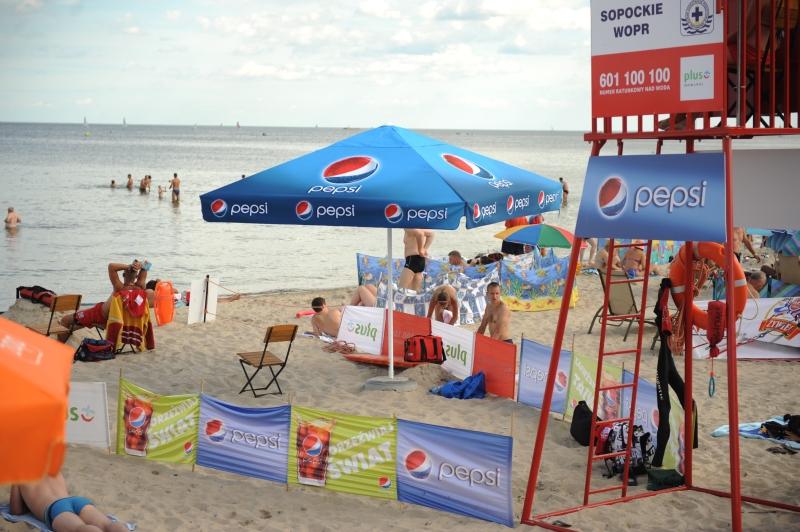 parasol 3,5x3,5m Pepsi Big Flag